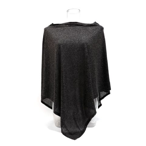 LIGHTWEIGHT CHARCOAL GREY SLUB WRAP